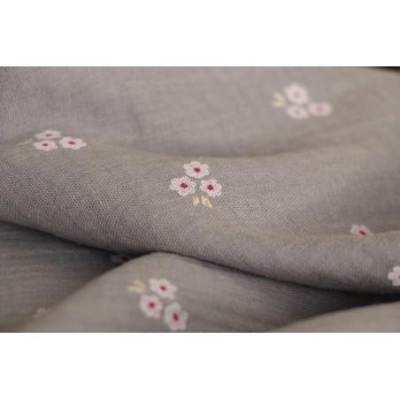 tissu double gaze imprimée petites fleurs