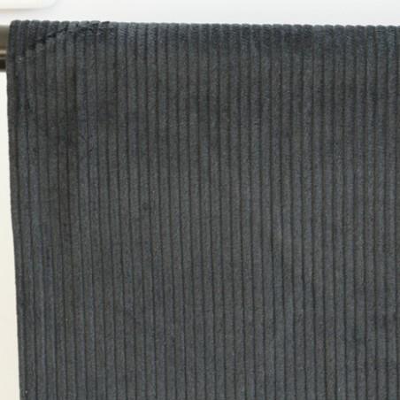 tissu velours grosses côtes vert foncé
