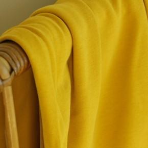 tissu molleton jaune moutarde