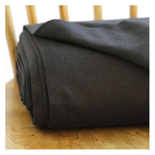 tissu bord côte bio noir