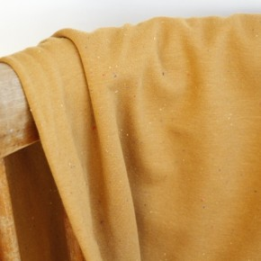 tissu sweat moucheté camel