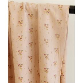 tissu viscose imprimé bouquet de fleurs rose