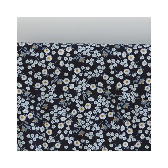 popeline de coton fleurie
