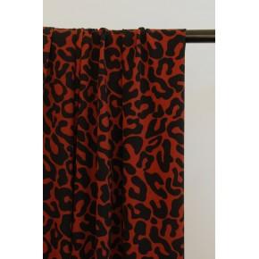 crêpe léopard brique et noir