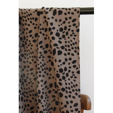 viscose léopard taupe et noir