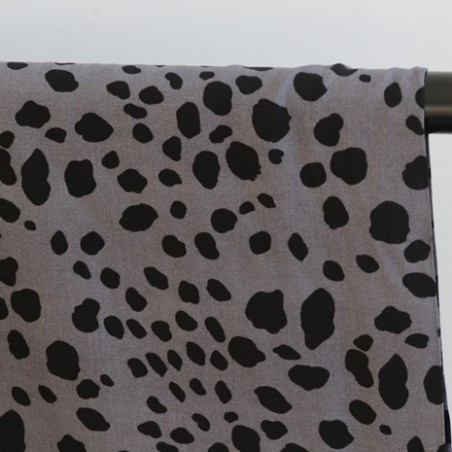 tissu viscose léo gris