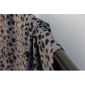 viscose imprimée léopard gris et noir