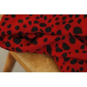 viscose léopard rouge foncé