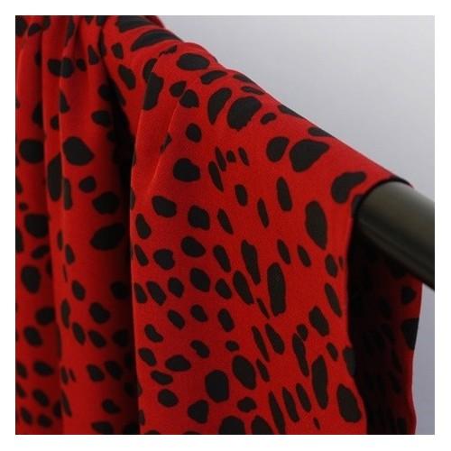 viscose imprimé léopard rouge foncé