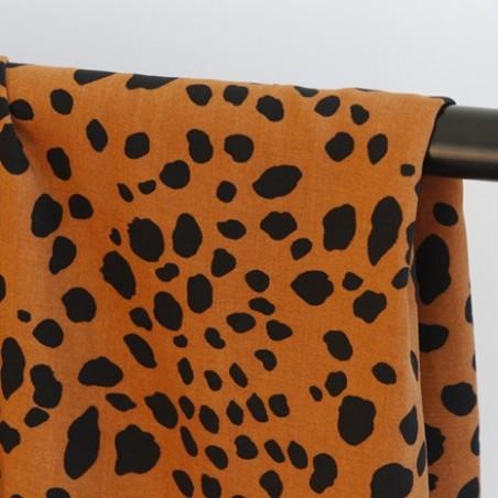 viscose léopard camel et noir