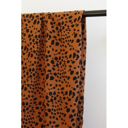 viscose imprimée léopard