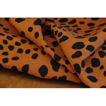 tissu imprimé léopard camel