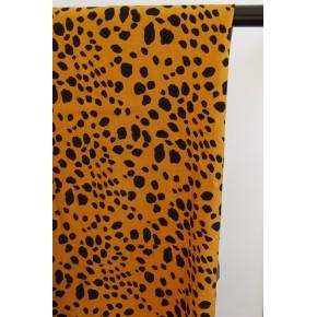viscose imprimée léopard moutarde