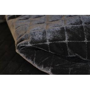 tissu velours matelassé - noir