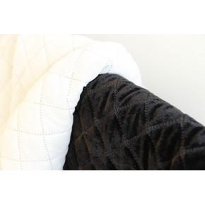 matelassé doublure tissu polyester blanc