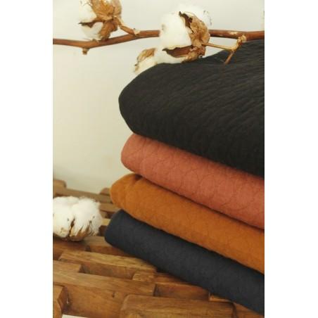 tissu jersey matelassé bio haute gamme fabriqué en france