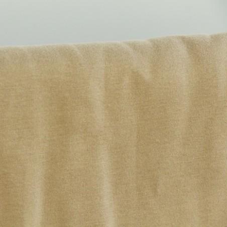 tissu molleton bio - beige