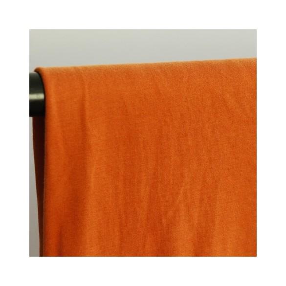 tissu molleton bio - orange