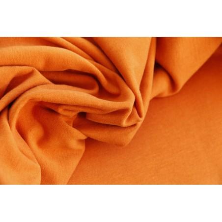 tissu sweat certifié bio gots - orange