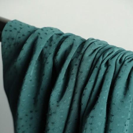 viscose jacquard plumetis vert foncé