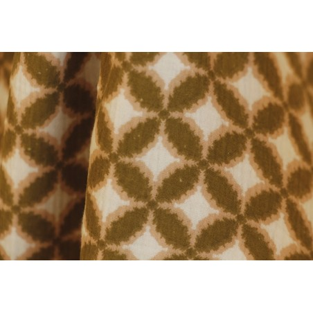 tissu double gaze imprimé en coton bio