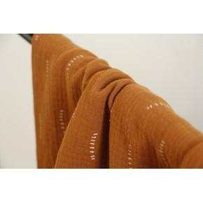 tissu double gaze stripes - caramel