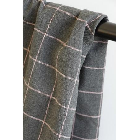 tissu à carreaux d'hiver