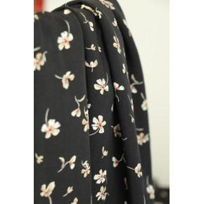 viscose fleurie noire