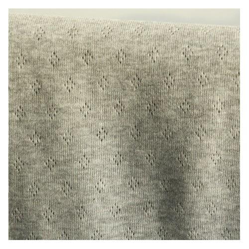tissu maille ajourée - gris