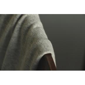 maille ajourée gris chiné