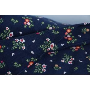 velours milleraies imprimé fleurs