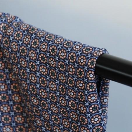 tissu velours milleraies imprimé fleurs