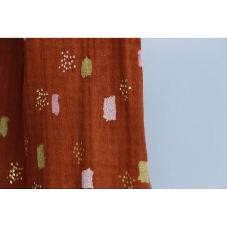 tissu en double gaze de coton imprimée
