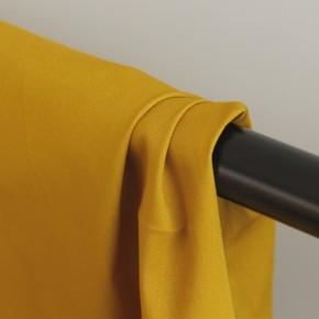 gabardine de coton jaune moutarde