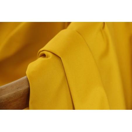 tissu gabardine coton moutarde