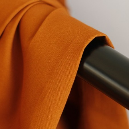 gabardine de coton burnt orange