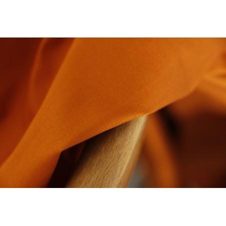 gabardine de coton coloris orange brûlée
