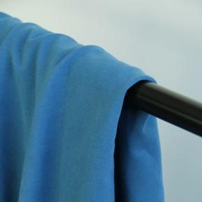 tissu molleton bio bleu azur