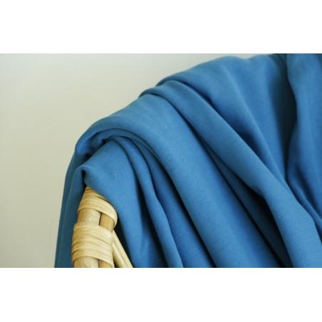 molleton bio bleu azur