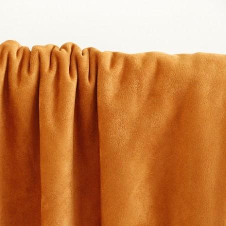 tissu suédine envers polaire - cognac