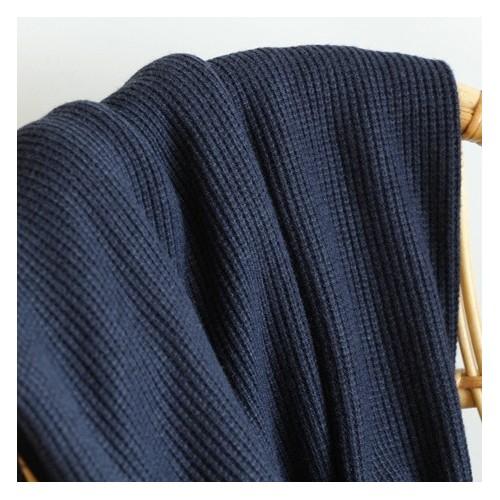 tissu maille tricot marine