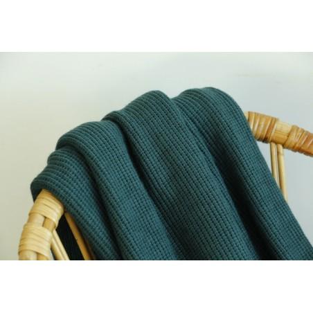 maille tricot vert foncé