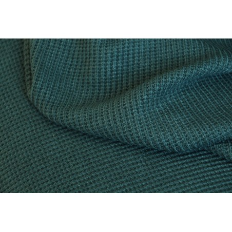 tricot maille vert foncé