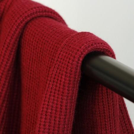 tissu maille tricot bordeaux