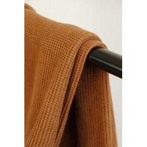 tissu maille tricot ocre