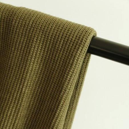 tissu maille tricot kaki