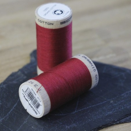 fil coton bio scanfil - rouge grenat