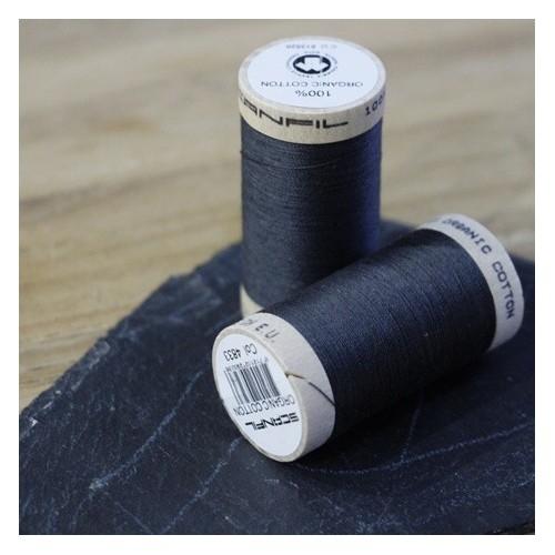 fil coton bio scanfil - gris anthracite