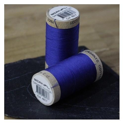 fil coton bio scanfil - bleu électrique