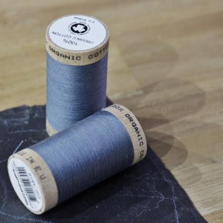 fil coton bio scanfil - bleu stoned